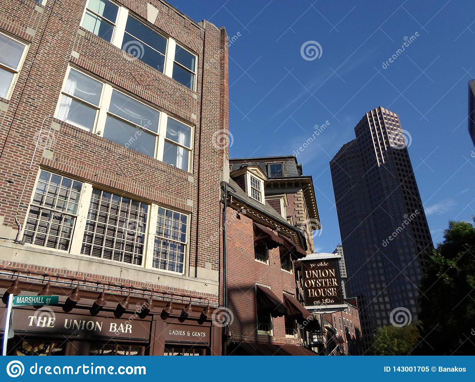 Verbands Austern Haus Ye Olde Boston Massachusetts Usa