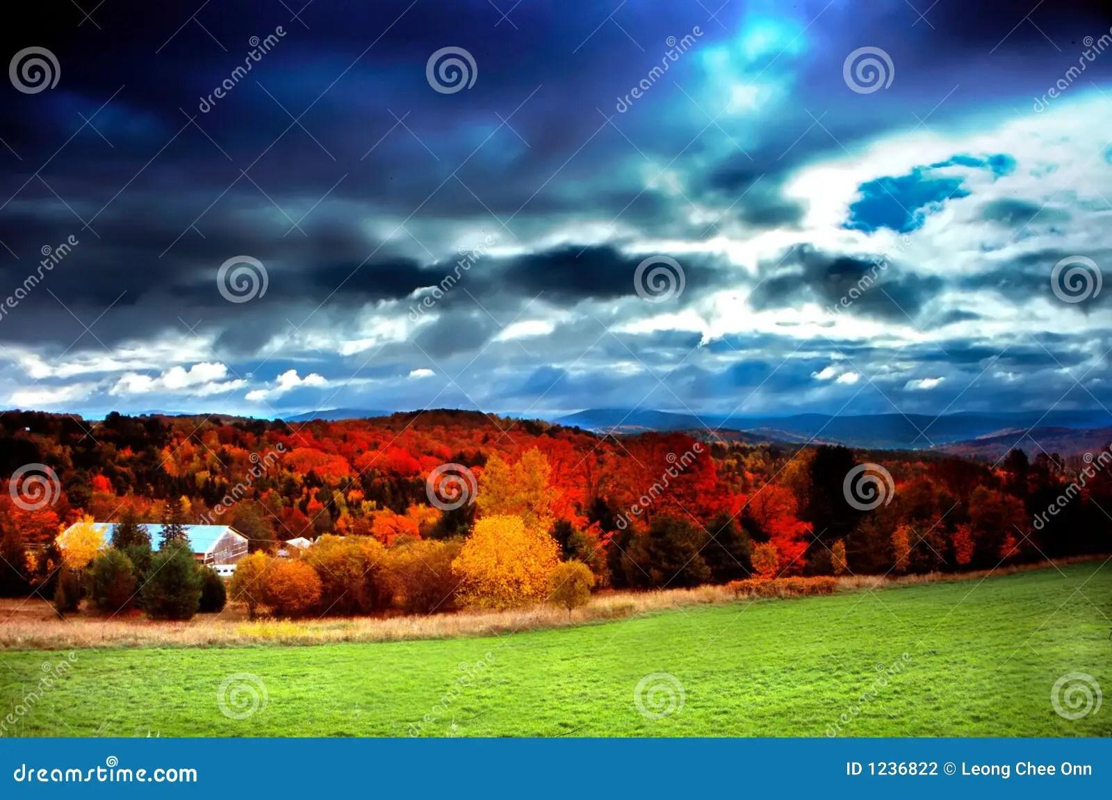 Fall Scenes Desktop Wallpaper Vermont Usa Stock Photography Image 1236822