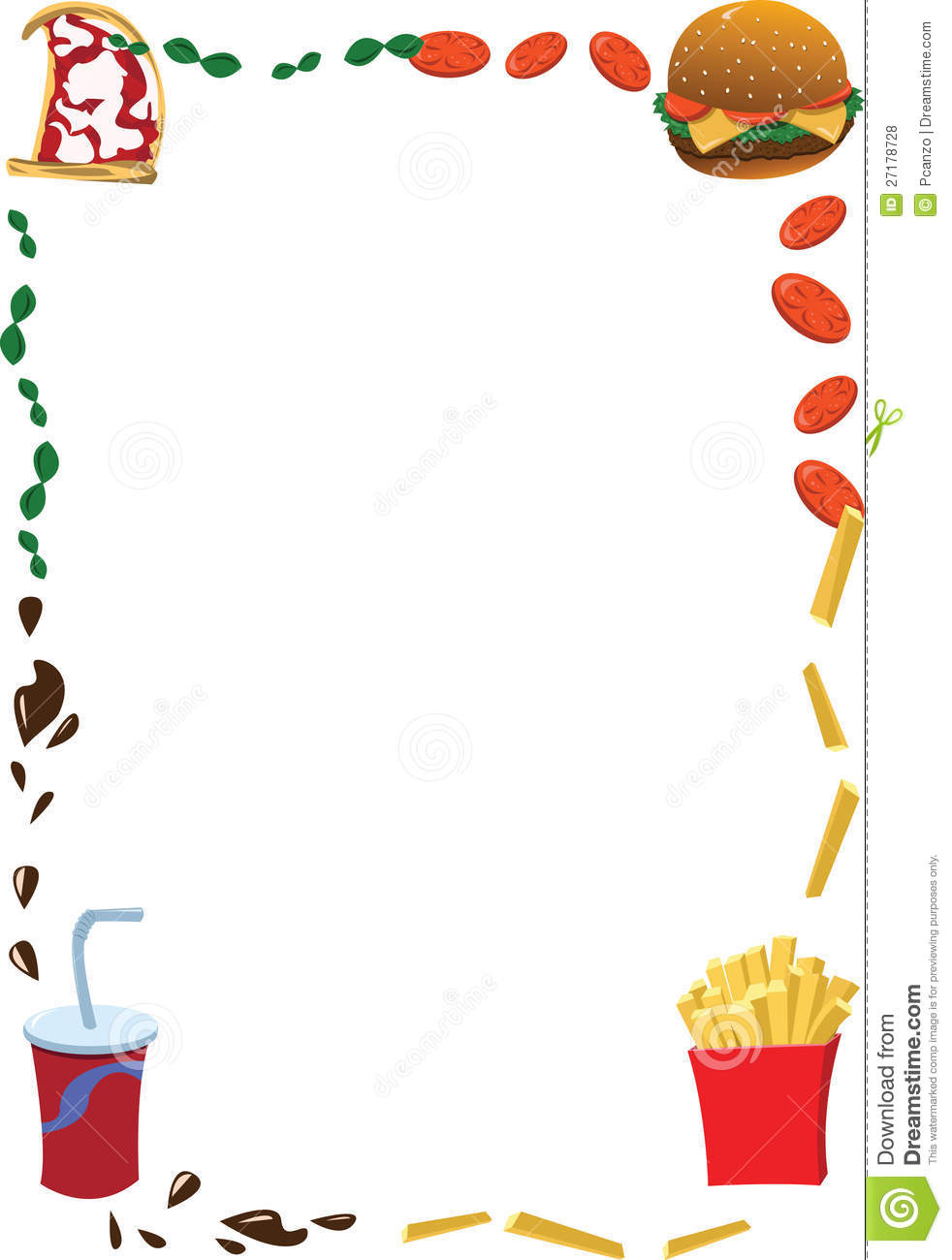 Tribal Cute Wallpaper Vertical Fast Food Frame Stock Vector Illustration Of