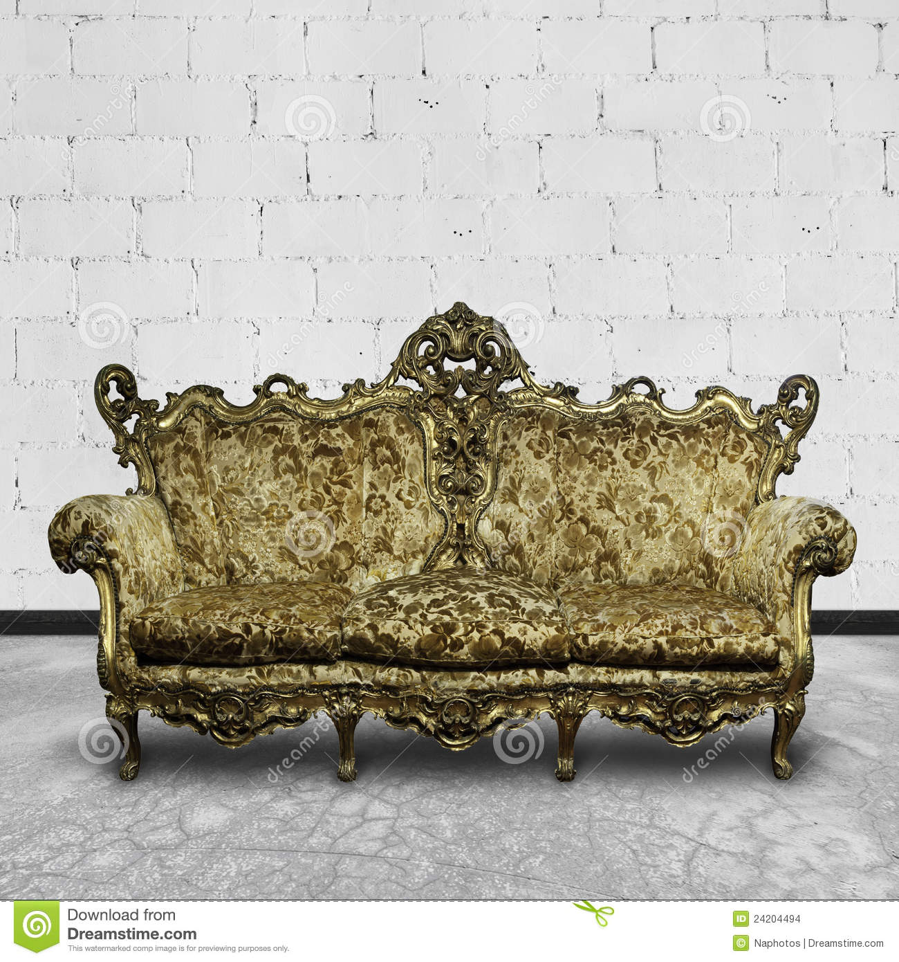 L Shaped Sofa Victorian Victorian Sofa In White Room Stock Photo Image 24204494