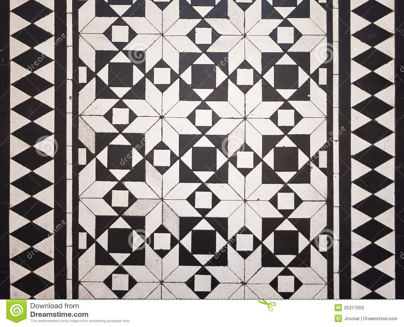 Victorian Style Floor Tile Pattern Stock Image Image Of