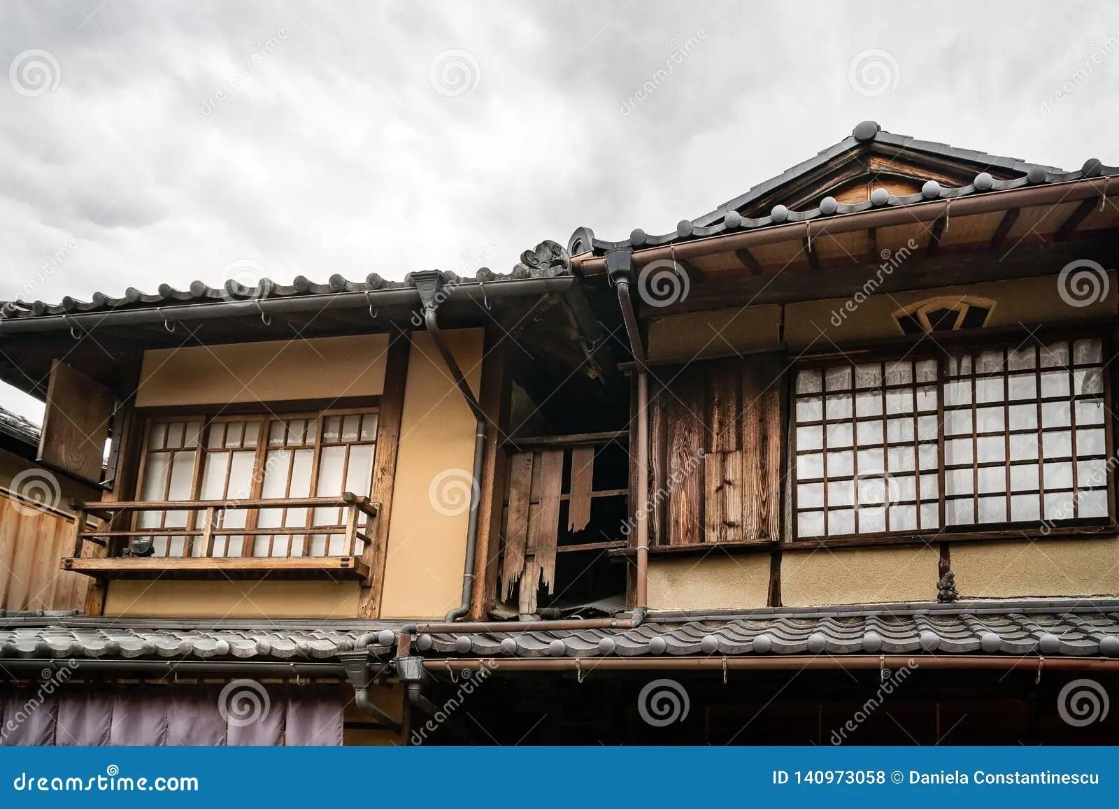 Vieille Chambre Japonaise Traditionnelle Dans Gion Kyoto Japon