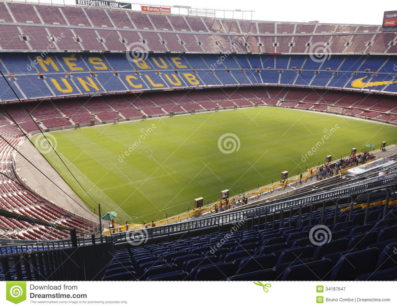 camp nou stadium fc barcelona editorial photography