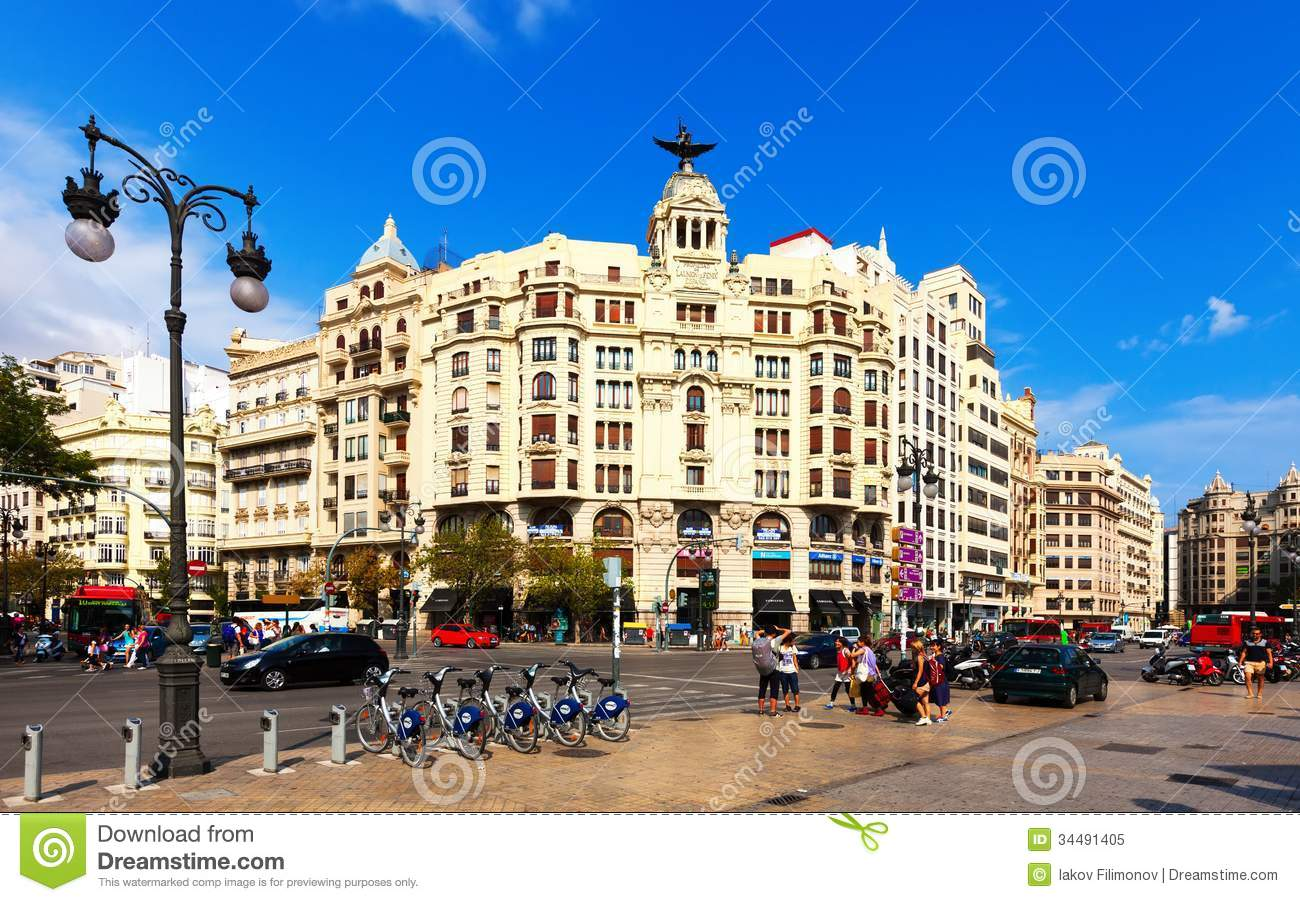Audio Car Wallpaper Download View Of City In Valencia Spain Editorial Image Image Of