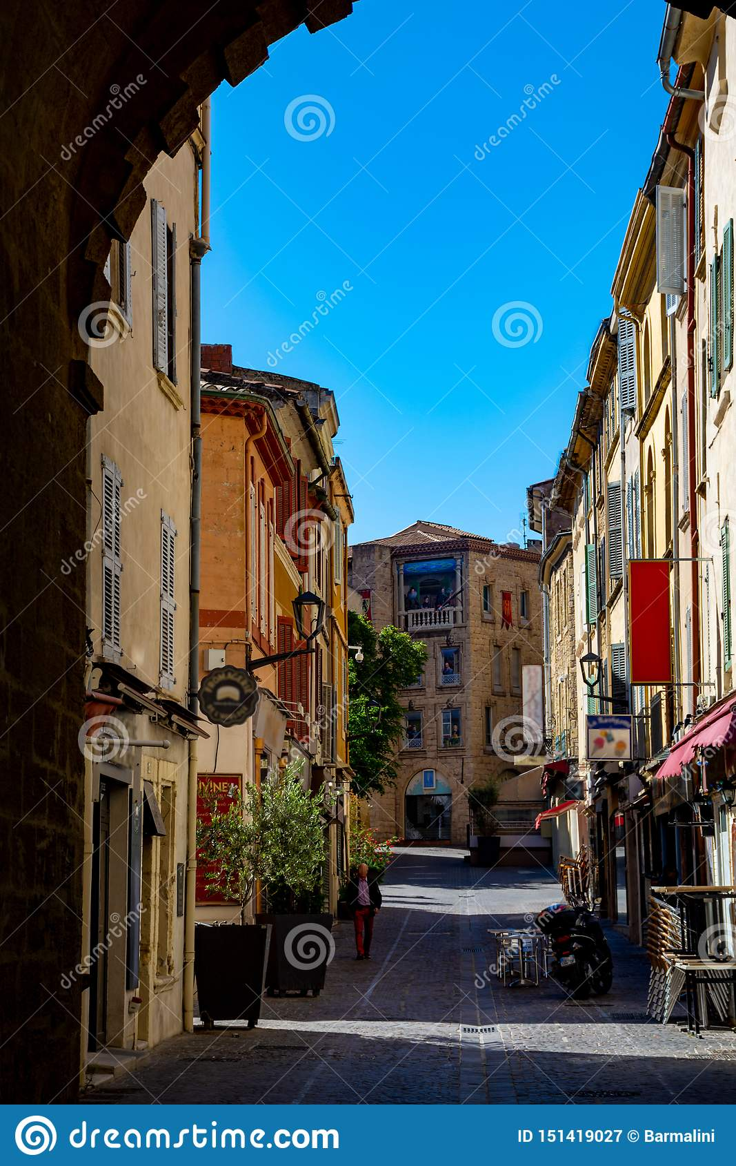 Medieval Provencal Town Salon En Provence South Of France Stock Image Image Of Europe Sunny 151419027