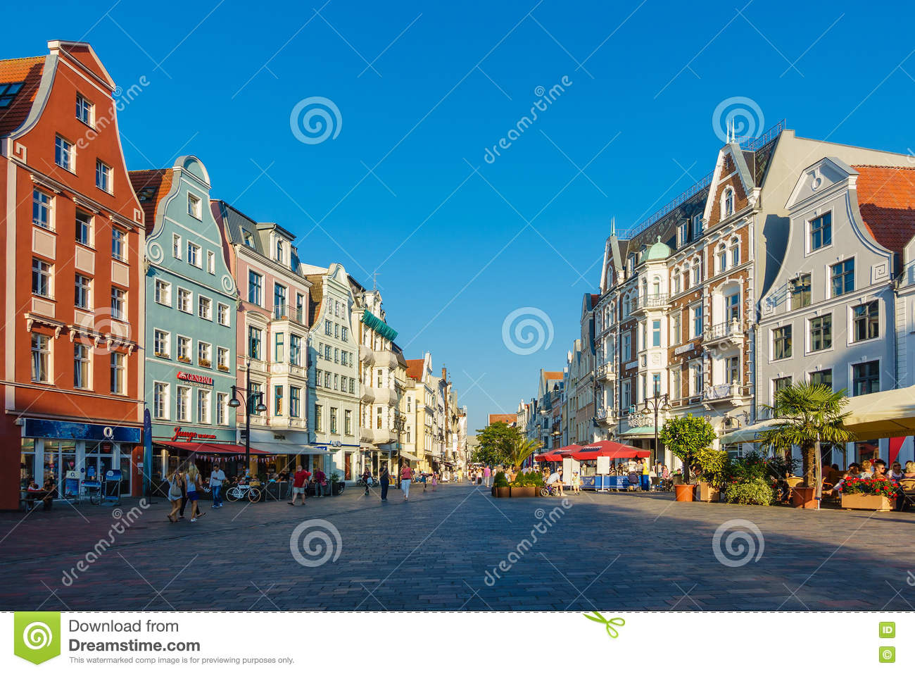 Rostock Shopping Rostock, Germany - August 2016: Hanse Sail Event With