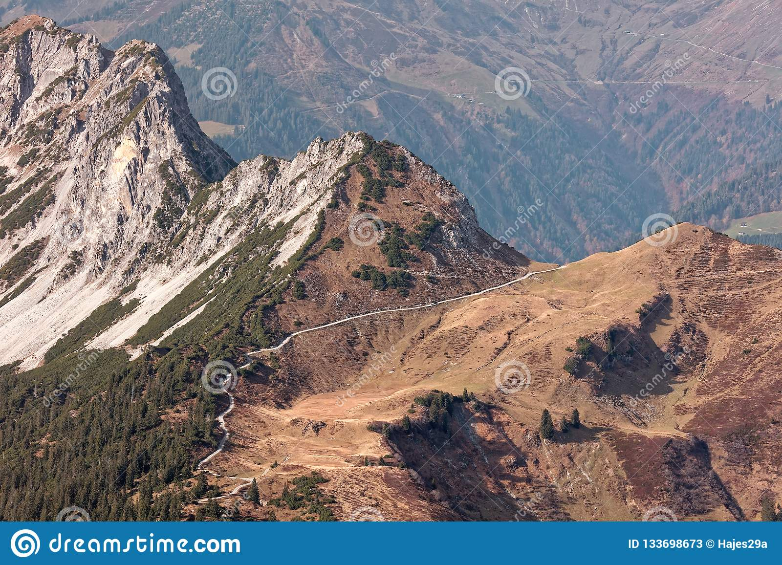 Rote Wand Views From Rote Wand Stock Image Image Of Rock Forrest 133698673