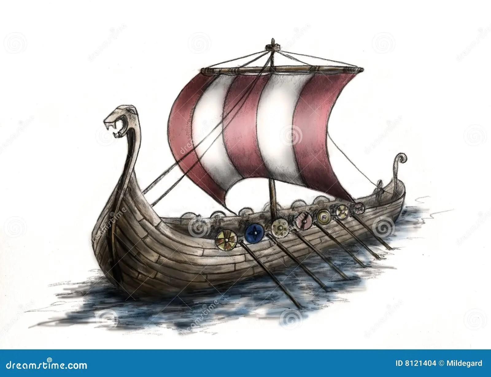 Danger 3d Wallpaper Download Viking Ship 3 Stock Illustration Illustration Of Head