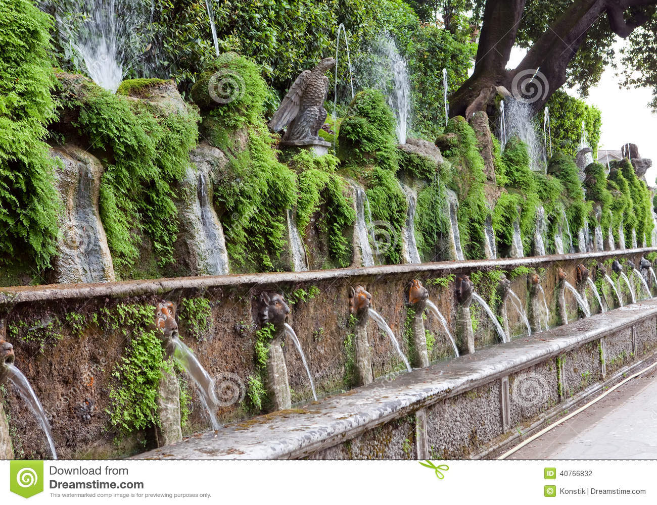 Galileo Casa By Villa D'este Villa Deste Fountain And Garden Tivoli Italy Stock