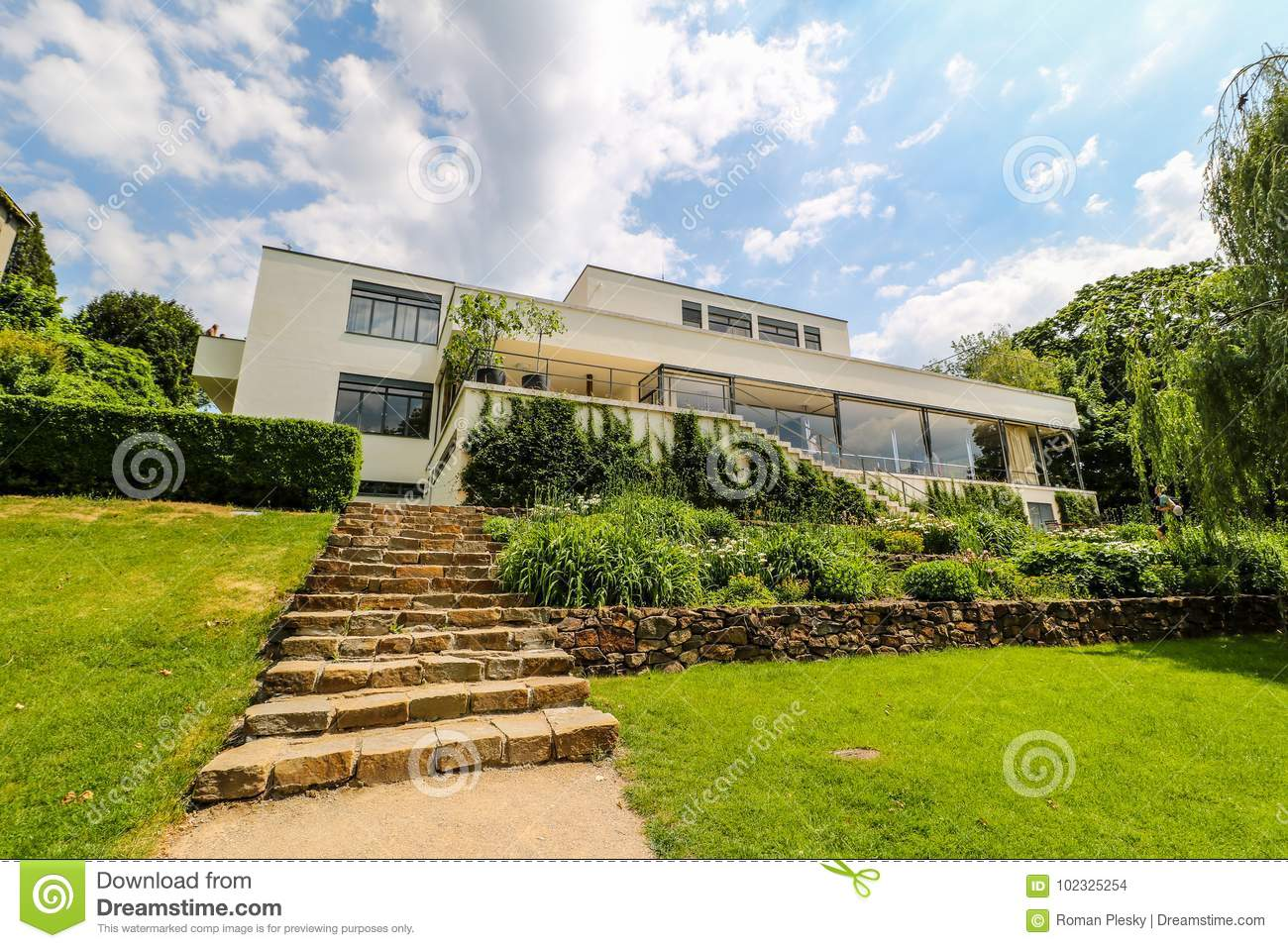 Villa Tugendhat Villa Tugendhat In Brno Czech Republic Editorial Stock Image