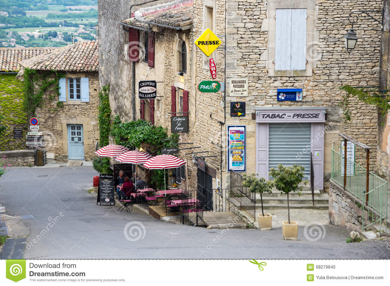 Boulangerie Salon De Provence Village Of Gordes In The Provence Editorial Image Image Of