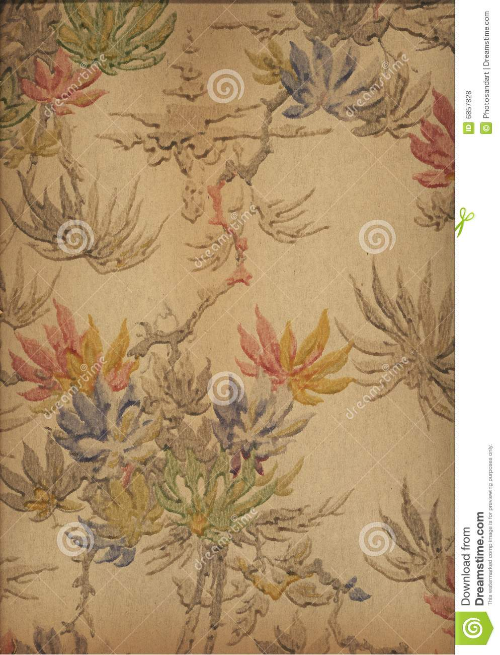 Falling Feathers Wallpaper Vintage Art Deco Wallpaper Stock Illustration