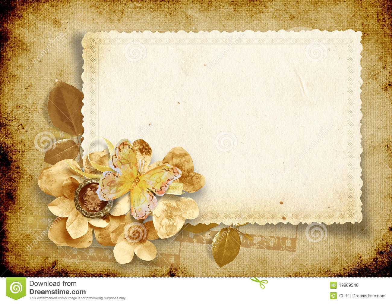 Fall Harry Potter Wallpaper Vintage Background With Card And Paper Flowers Royalty