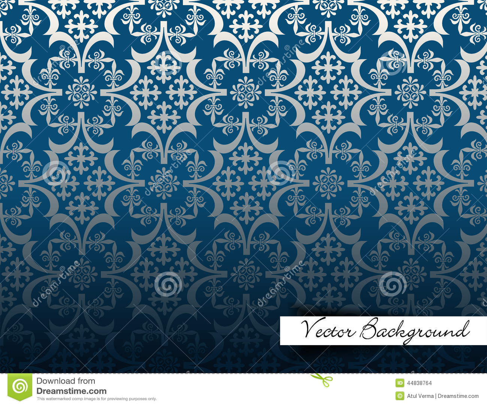 3d Damask Wallpaper Vintage Background Luxury Blue Design Background Pattern