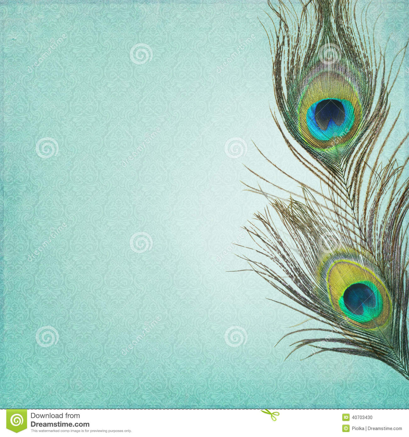 Hd Diwali Wallpapers Free Vintage Background With Peacock Feathers Stock Photo