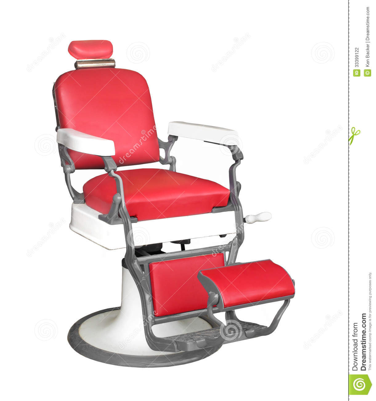 Vintage barber chair isolated stock photography image