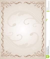 Vintage Border stock vector. Illustration of template ...