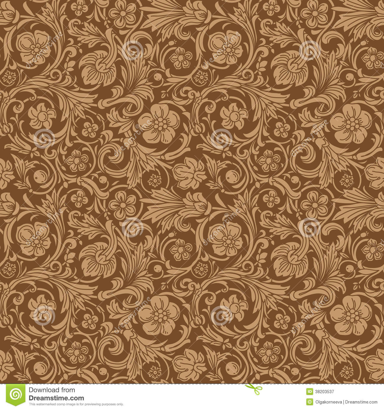 3d Wallpaper For Walls Designs Vintage Classic Ornamental Seamless Vector Pattern Royalty