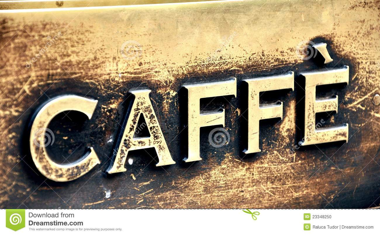 Decoration Bar Pub Vintage Coffee Bar Sign In Italy Stock Photo - Image: 23348250