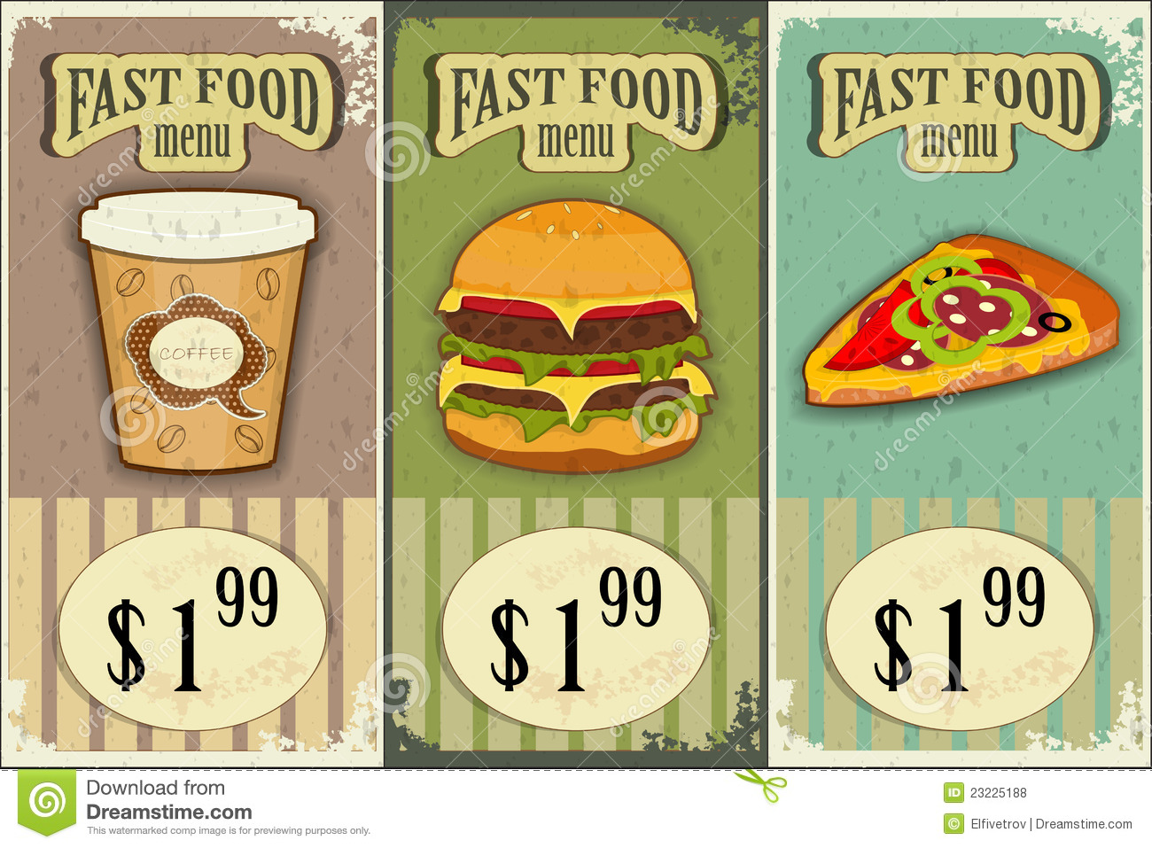 Accessoire Cuisine Retro Vintage Fast Food Labels Stock Vector Image Of Kitchen