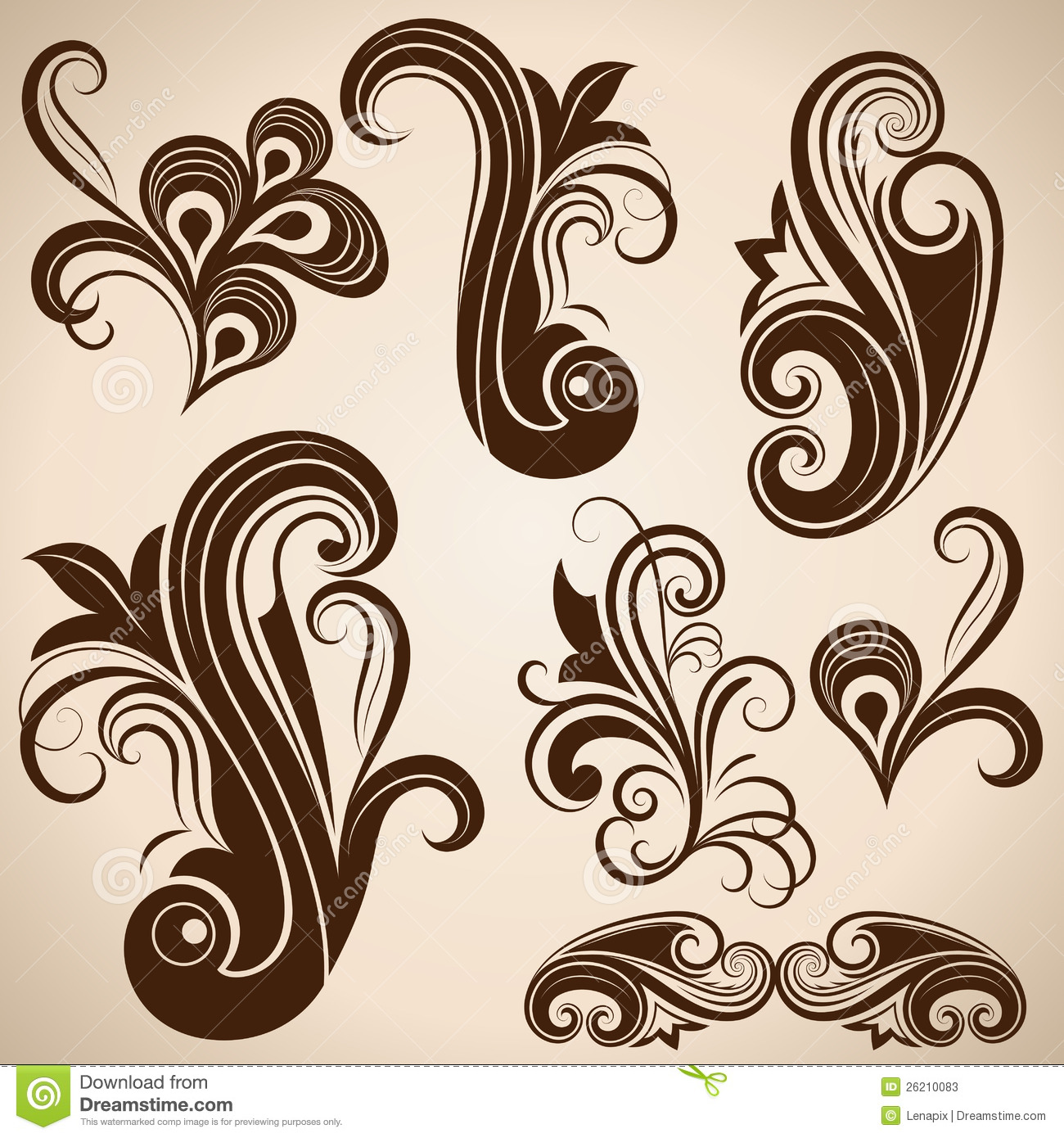 Vintage Design Vintage Floral Design Elements Stock Vector Image 26210083