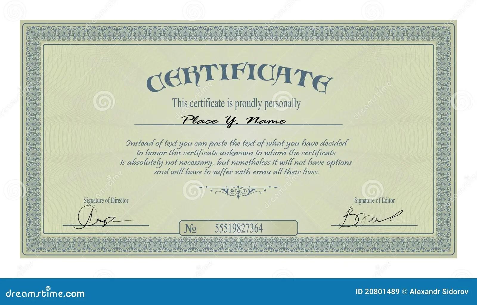 Vintage Certificate Template Costumepartyrun