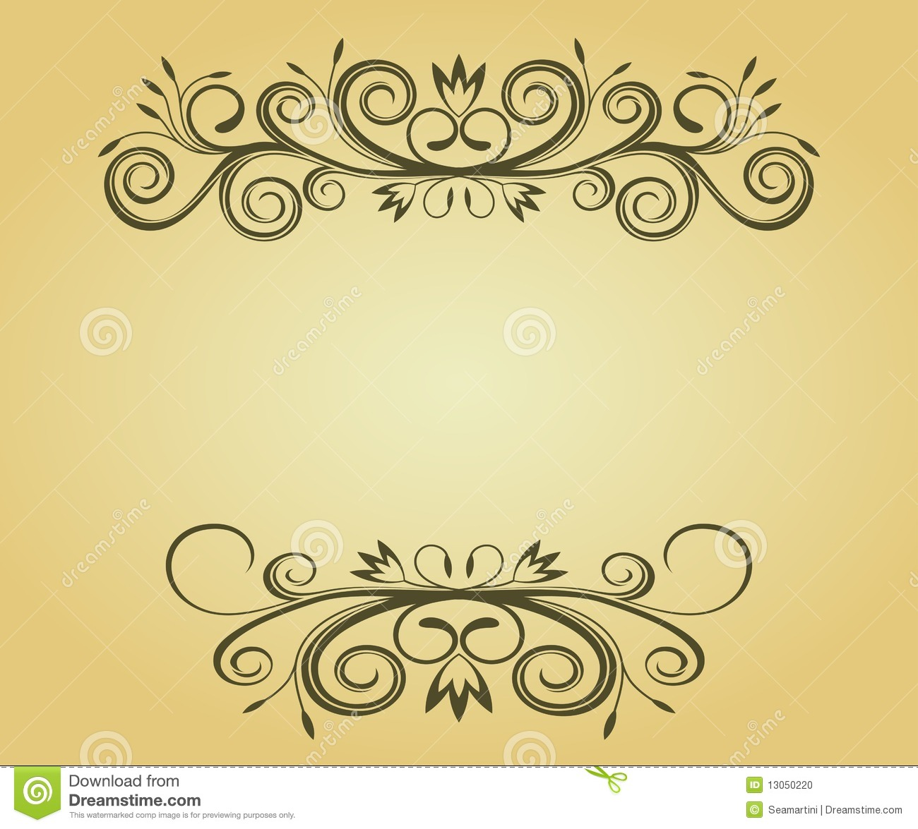 Vintage Design Vintage Frame For Design Stock Vector Image Of Antique