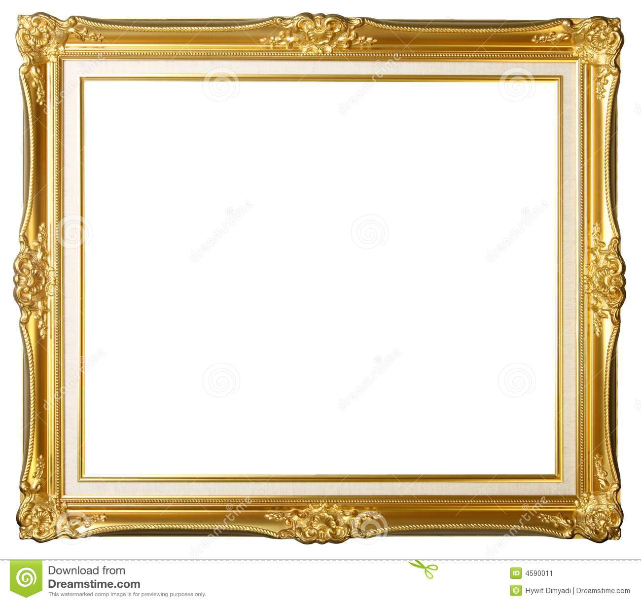 Frame Picture Vintage Gold Picture Frame Stock Image Image Of Background 4590011