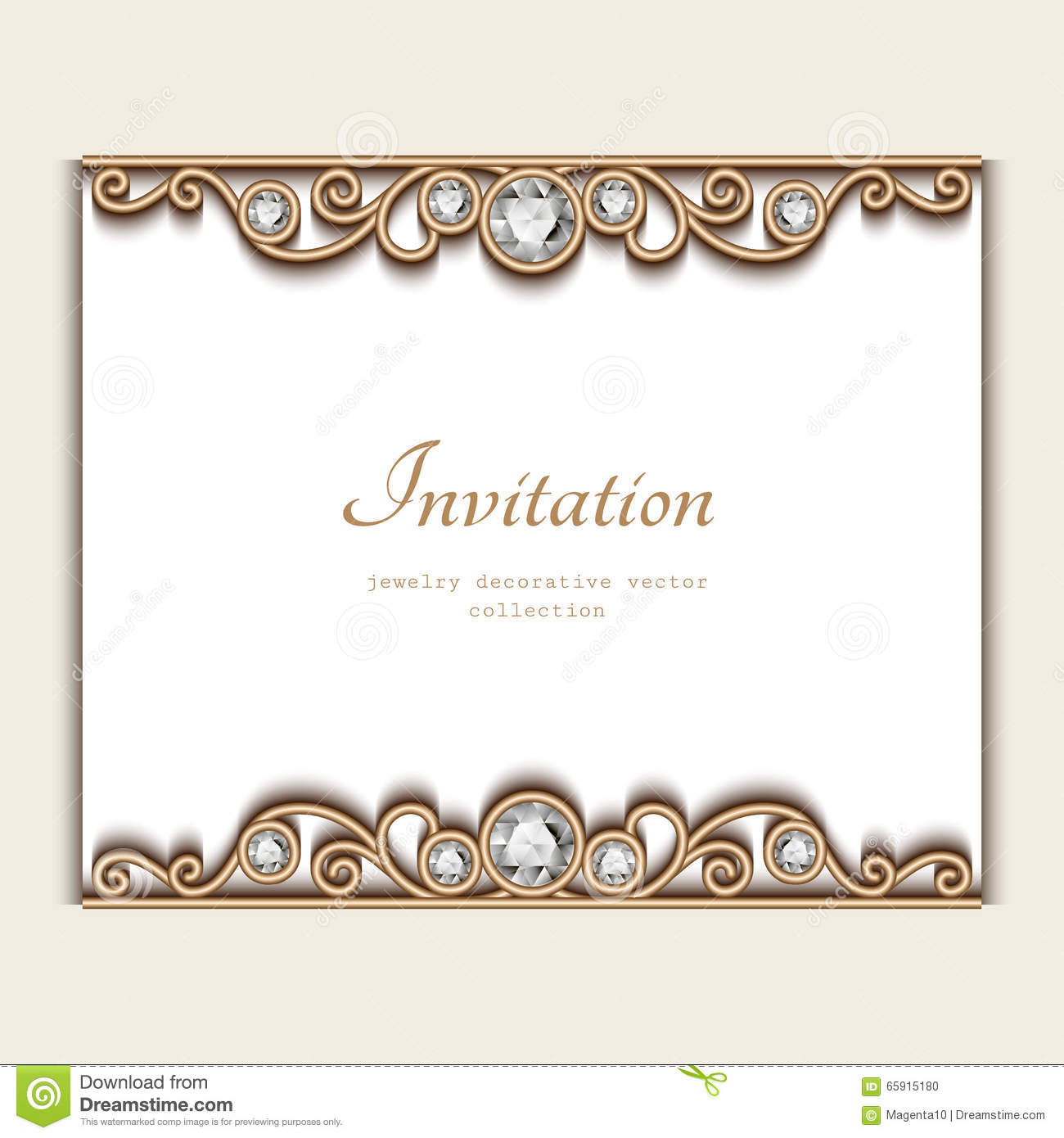 Invitation Cards Ruby Wedding Anniversary Vintage Jewelry Card, Invitation Template Stock Vector