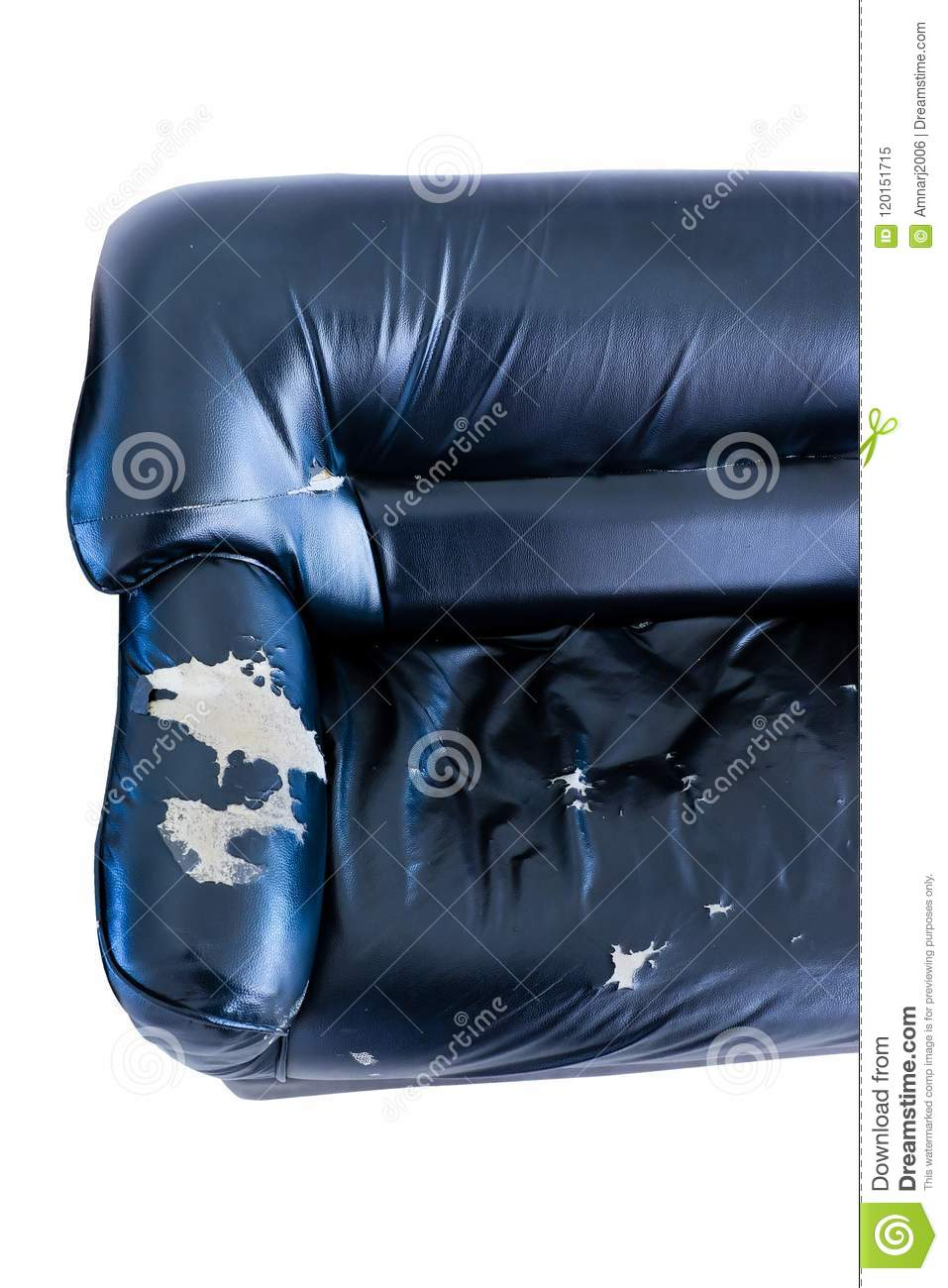 Retro Inflatable Sofa Vintage Old Grung Ripped Abandoned Couch Stock Image Image Of