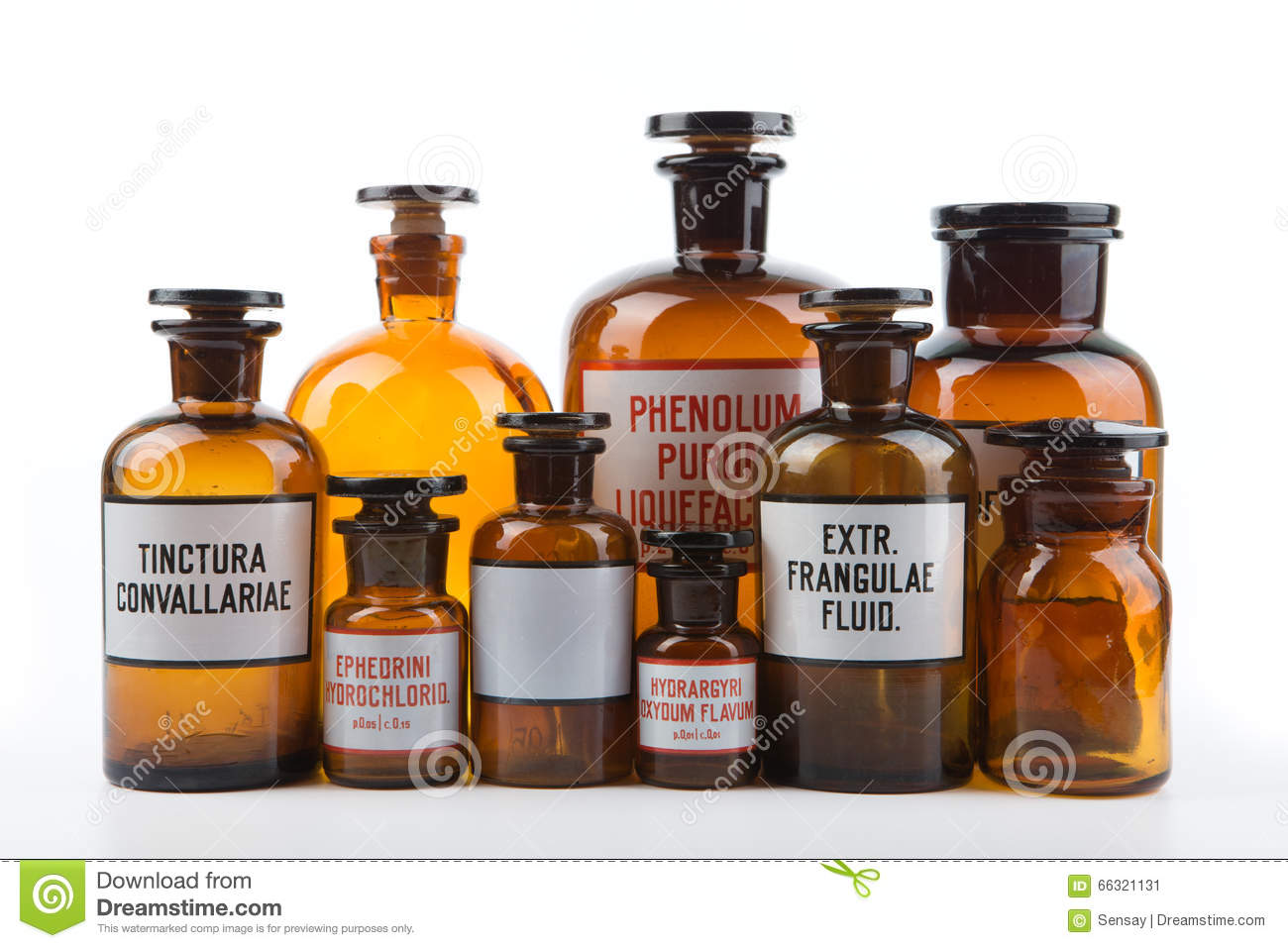 Apothekerflaschen Kaufen Vintage Pharmacy Bottles On White Background Stock Photo