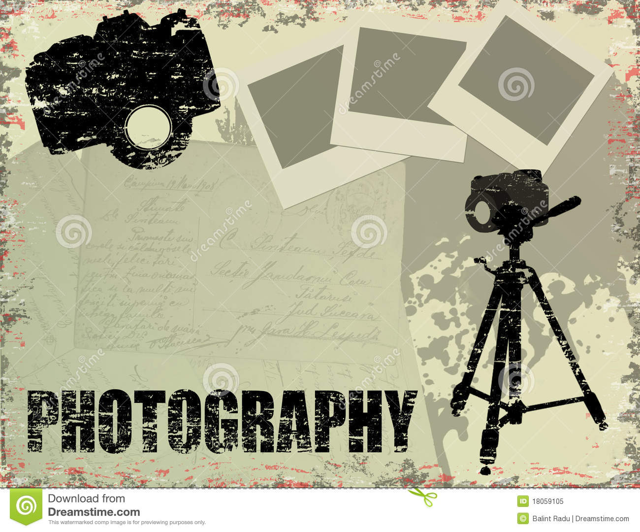 Poster Photos Vintage Photography Poster Royalty Free Stock Photo