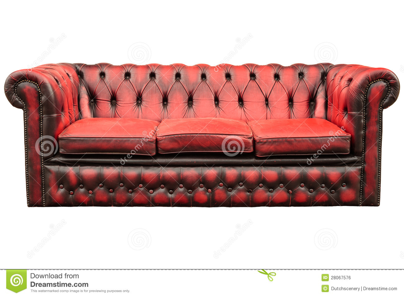 Sofa Vermelho Retro Vintage Red Sofa Isolated On White Stock Photo Image Of Leather