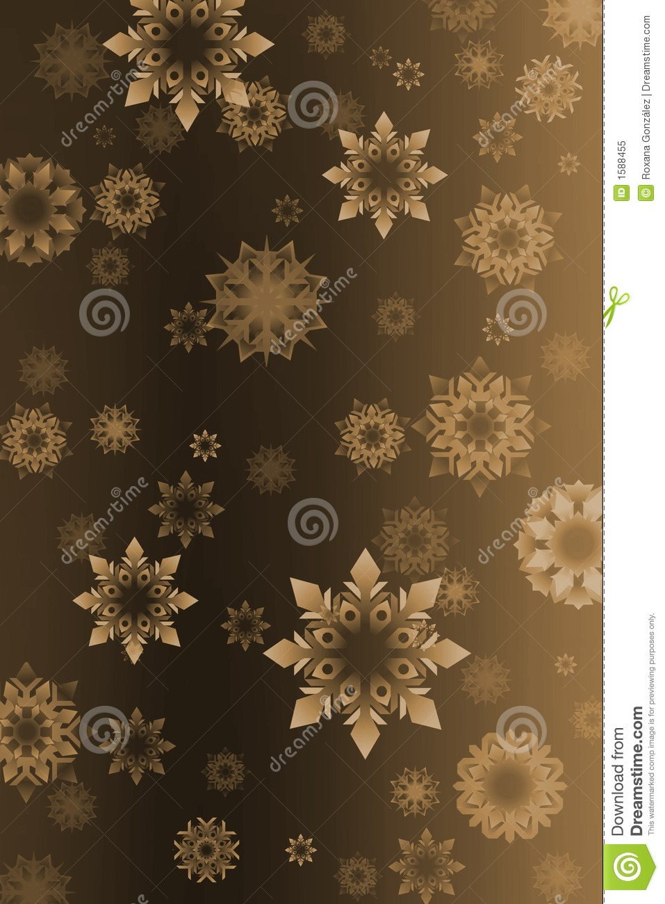 Free Download Of Christmas Wallpaper With Snow Falling Vintage Snowflakes Background Stock Illustration