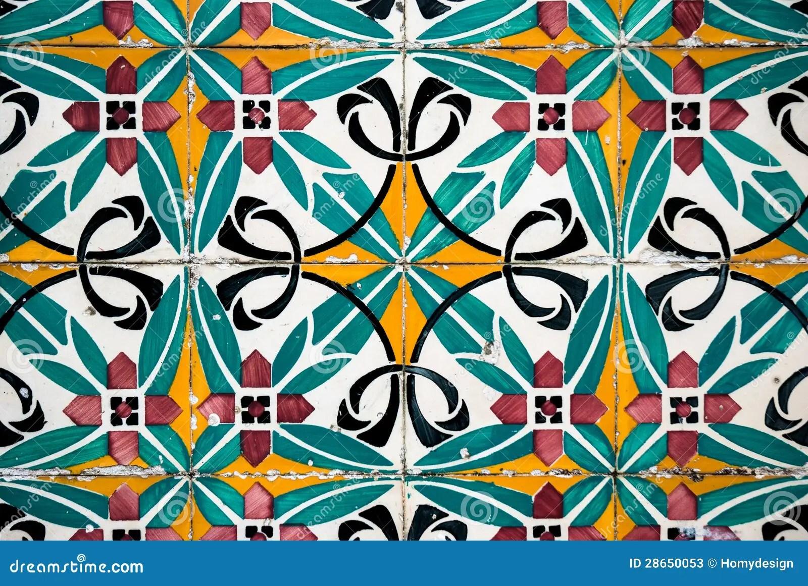 Vintage Spanish Tiles Stock Image Image Of Background