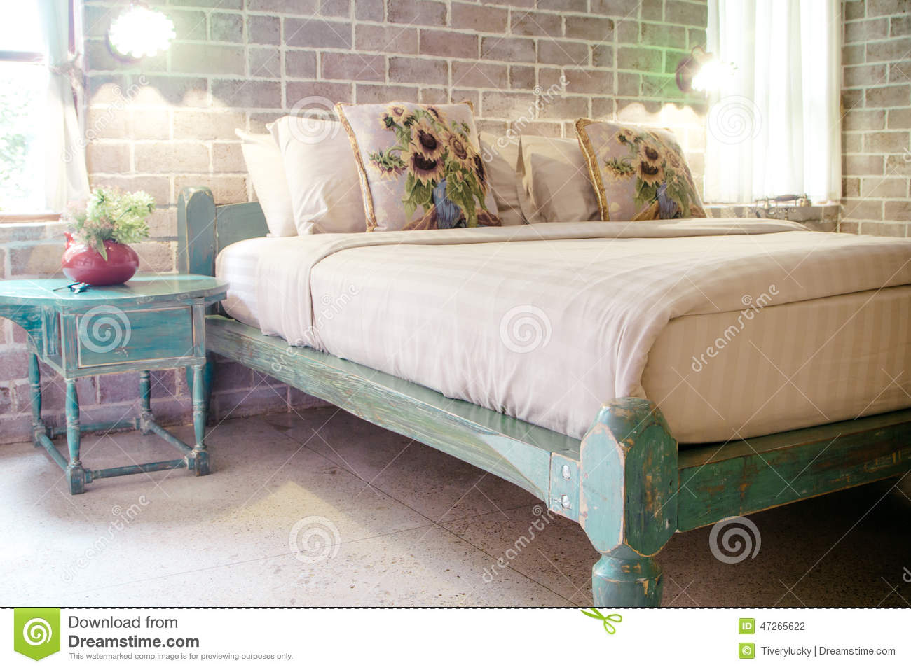 Chambre Moderne Vintage Vintage Style Bedroom Stock Photo Image Of Decor Floor