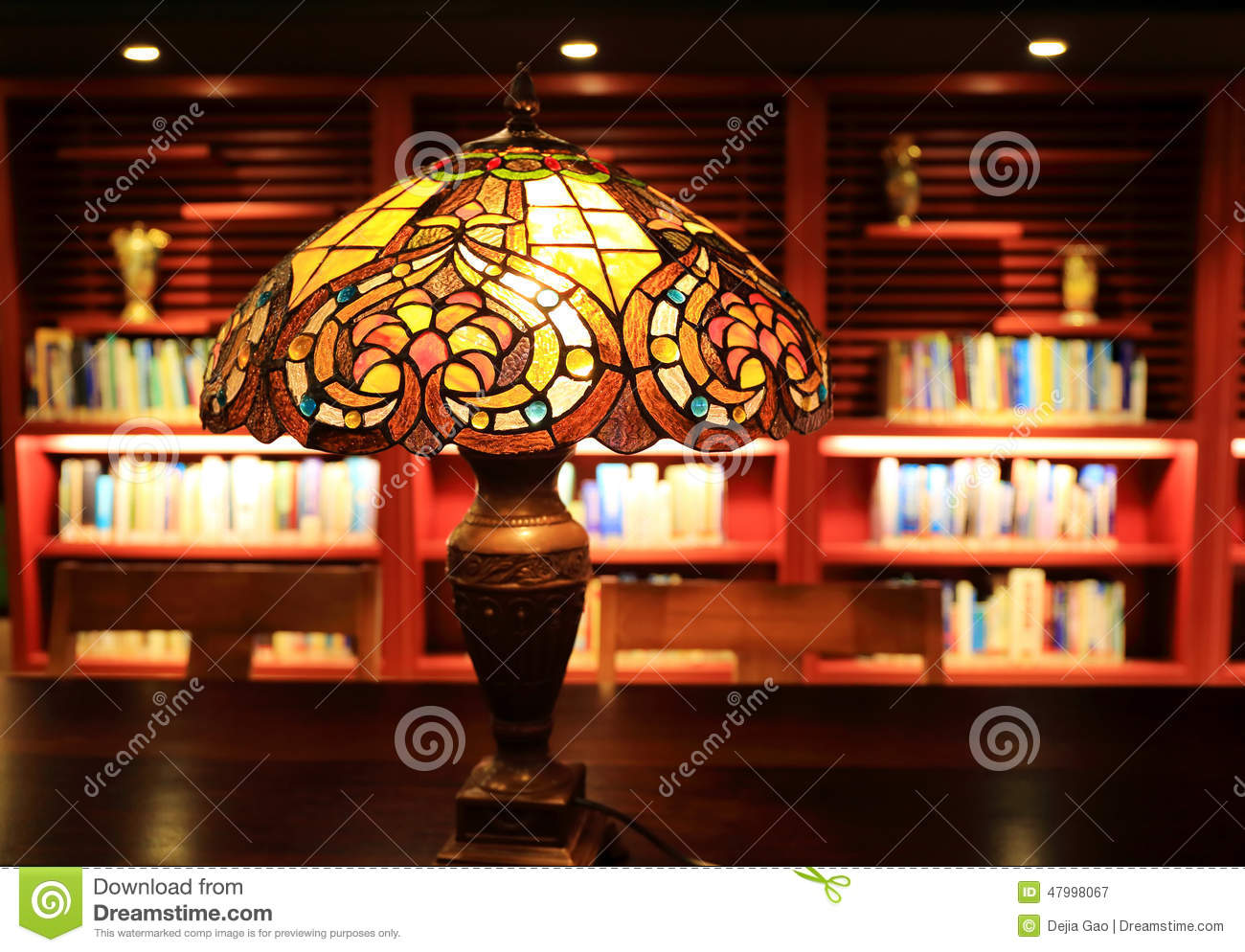 Study Table Light Table Lamp Desk Light In Study Reading Room Stock Photo
