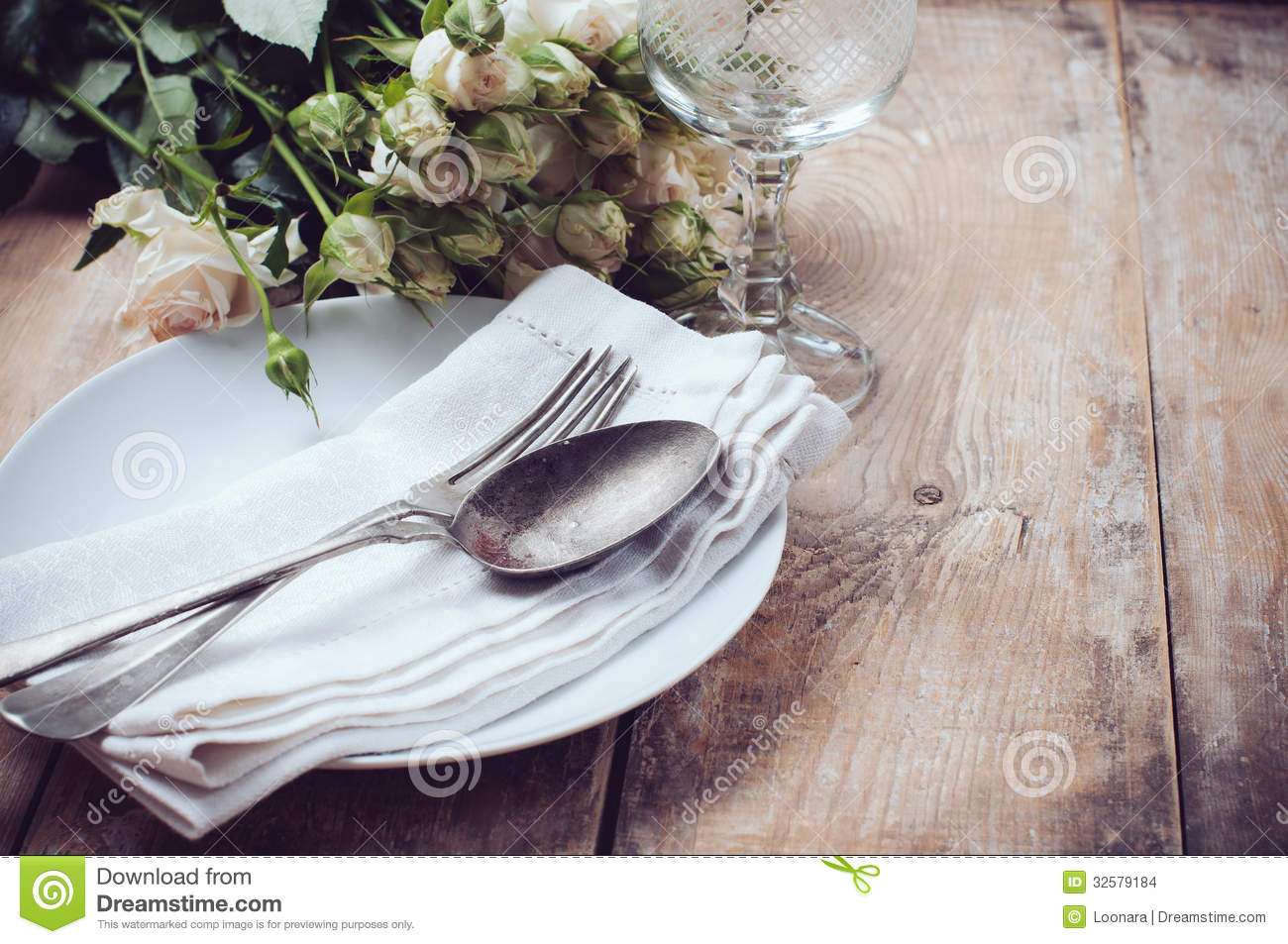 Table Setting Background vintage table settings