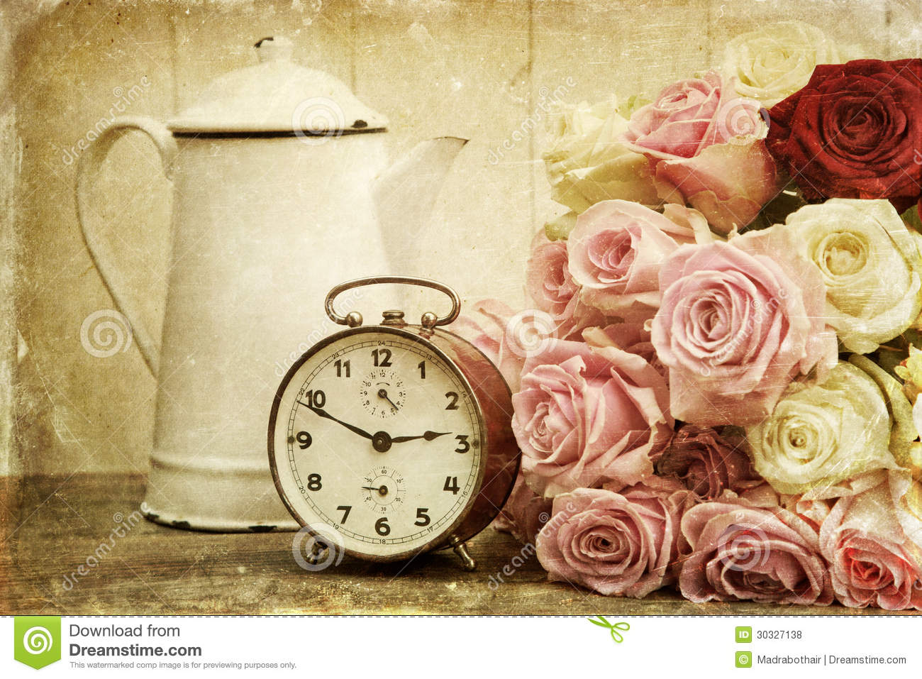 Desktop Wallpaper Book Quotes Vintage Textured Still Life With Roses And Alarm Clock