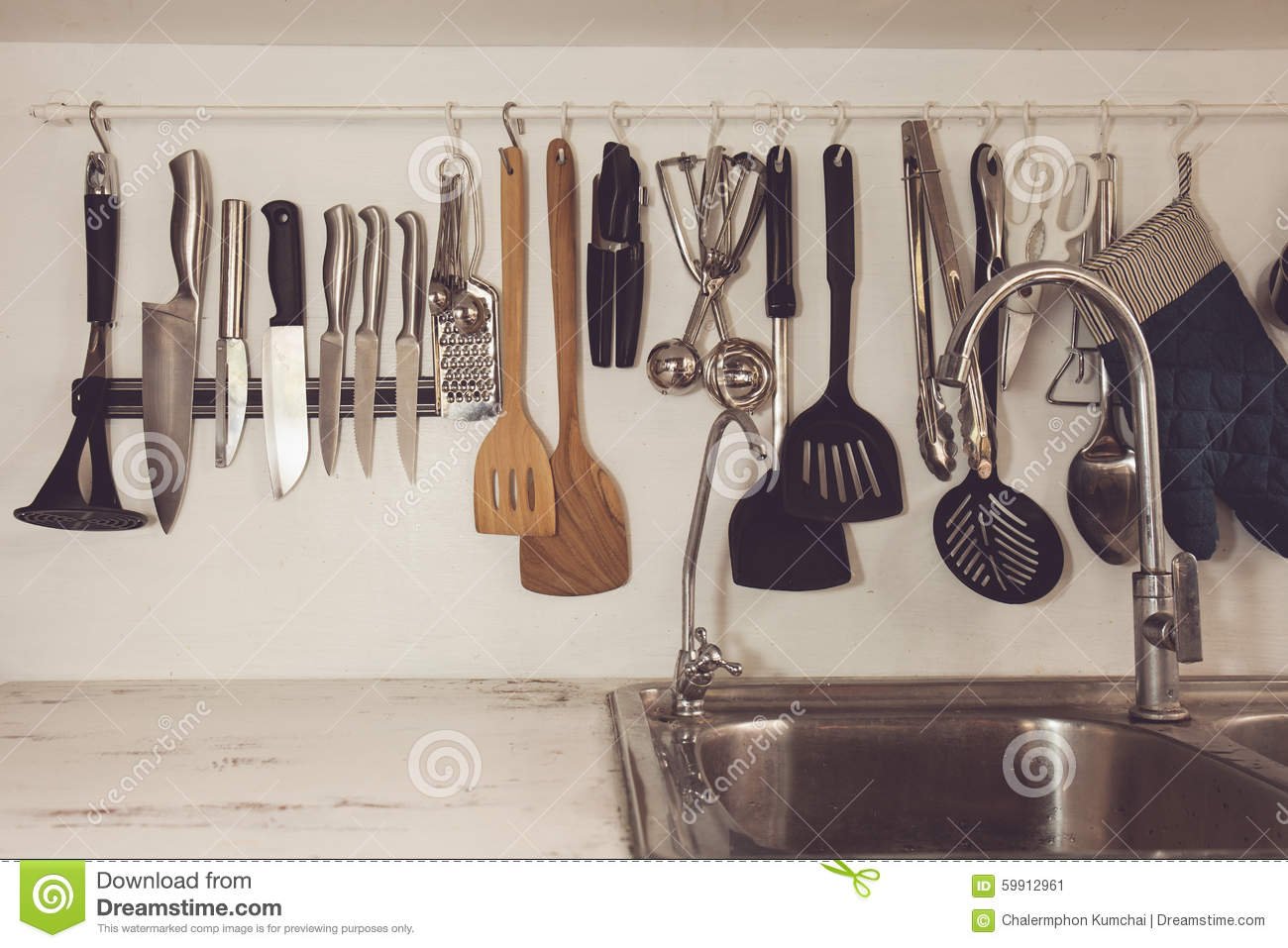 Kitchen Gadgets Online Vintage Cooking Utensils And Items Royalty Free Stock