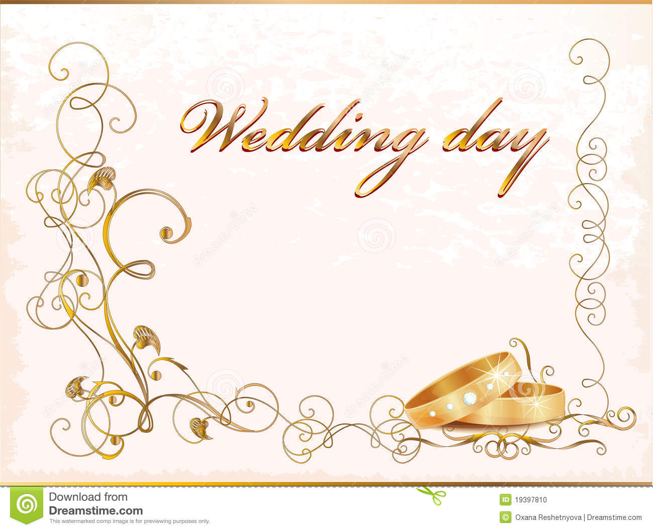 Ring Ceremony Hd Wallpaper Vintage Wedding Card Stock Photo Image 19397810