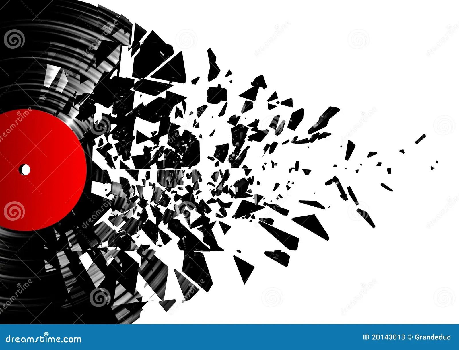 3d Vinyl Records Wallpaper Vinyl Shatter Stock Photos Image 20143013