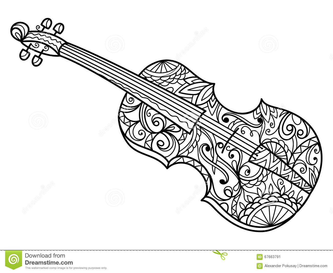 Cello Coloring Page - Erieairfair