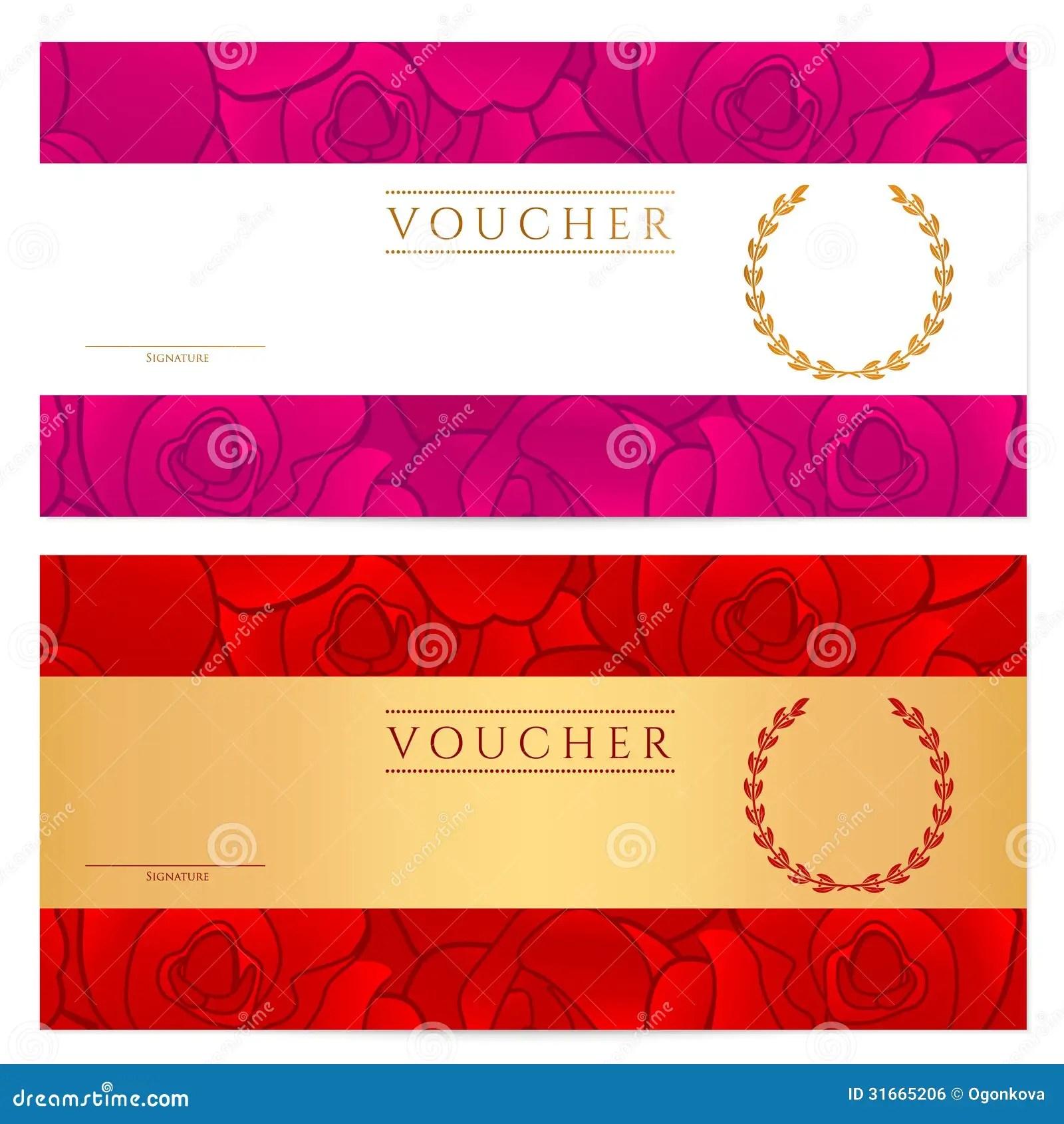 Voucher Template Free invoice template receipt template – Create a Voucher