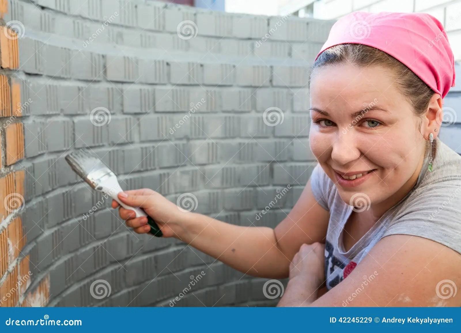 Stenen Muur Verven : Bakstenen muur verven bakstenen muur donkergrijs schilderen tuin