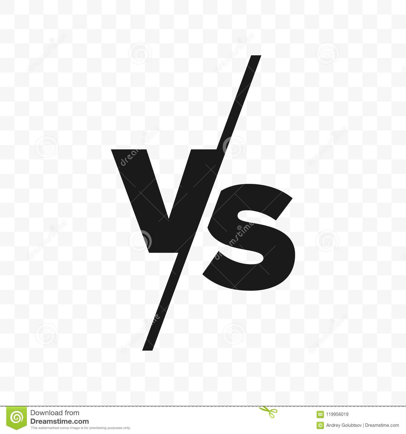 / Vs Vs Versus Letters Vector Icon Stock Vector Illustration Of