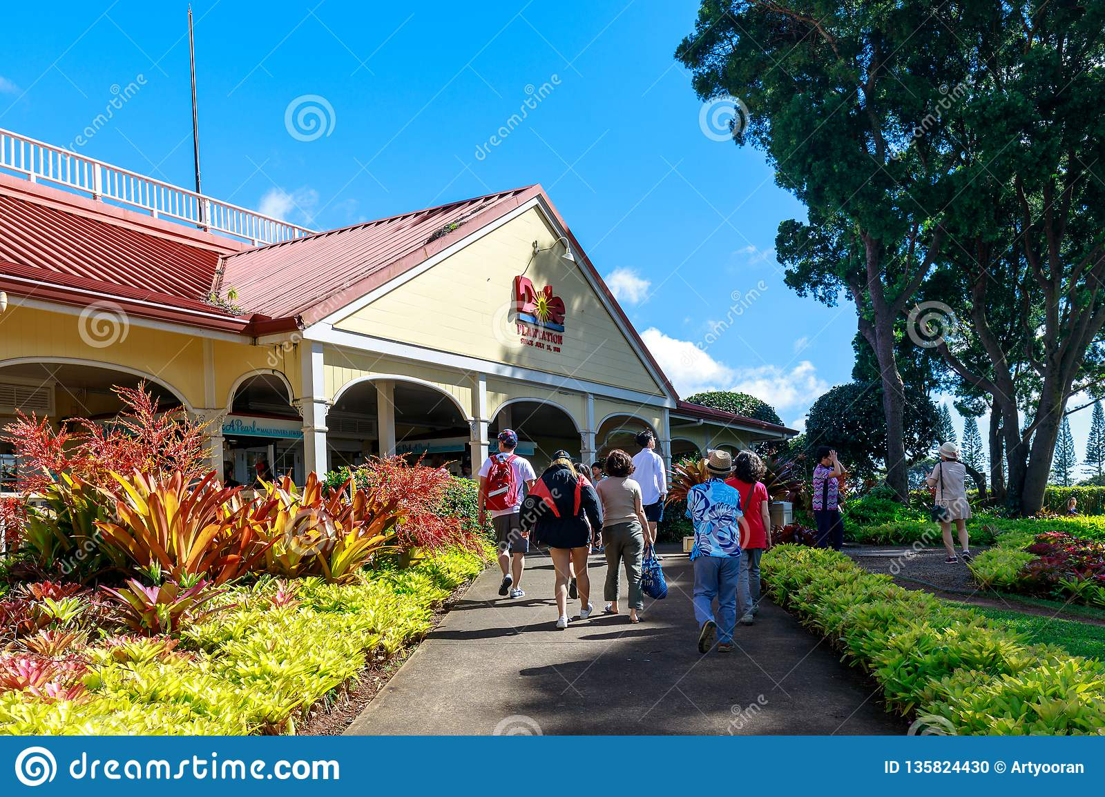 View Of The Dole Pineapple Plantation In Wahiawa Tour Destination Editorial Image Image Of Commercial Pineapple 135824430