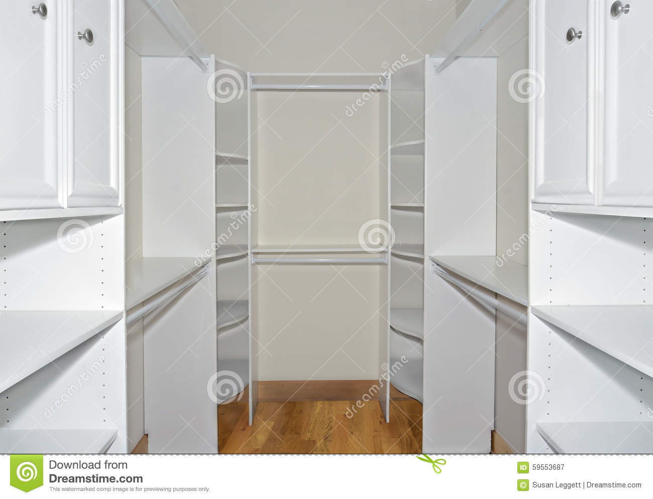 Walkin Closet Cabinets Walk In Closet Organizers Stock Image Image Of Details 59553687