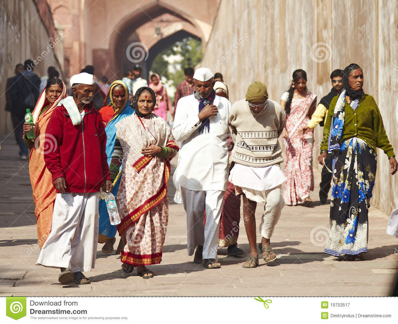 People India Walking Group Of Indian People Editorial Photography