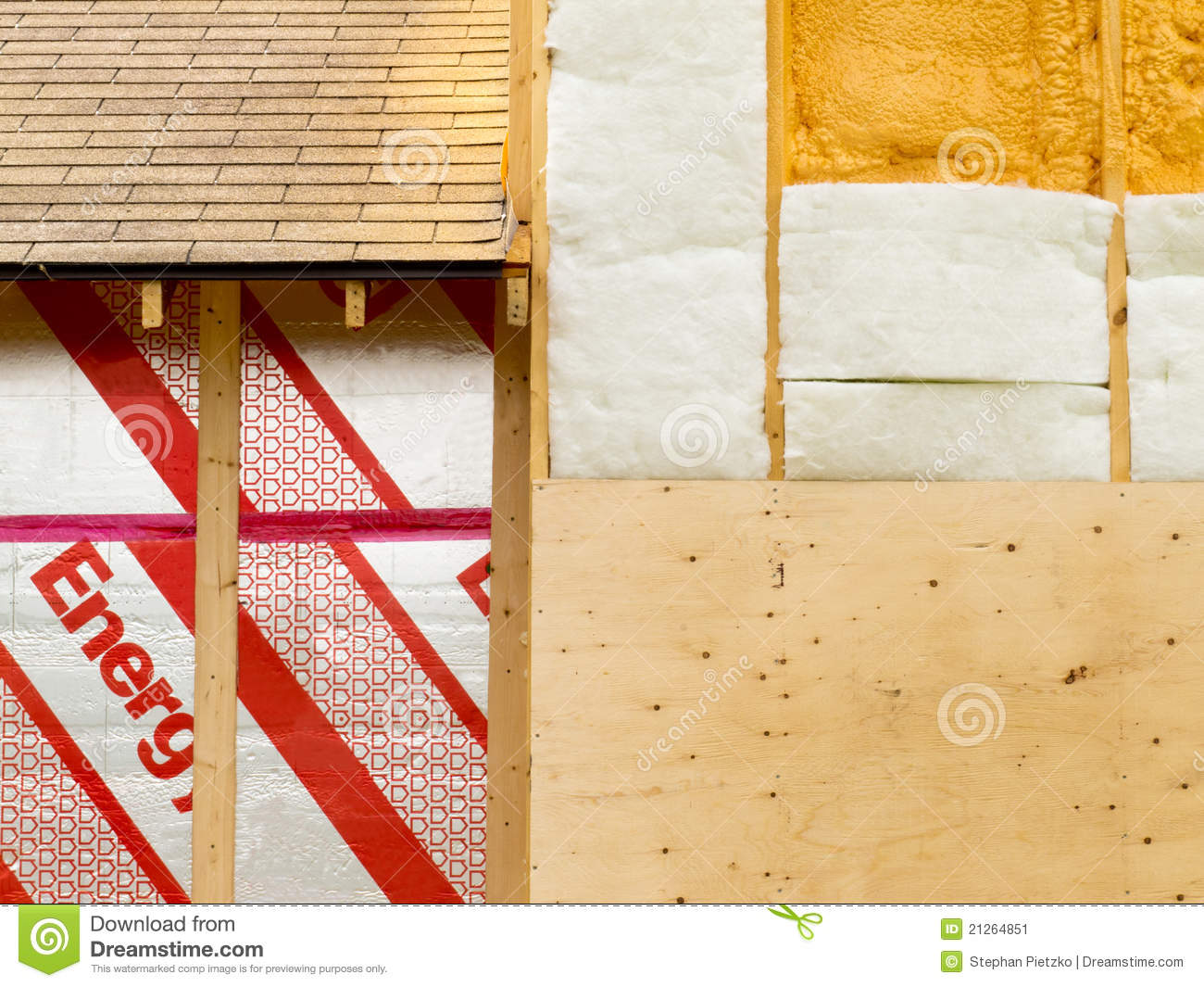 Rigid Insulation Types Wall Insulation To Save Heating Energy Stock Image Image Of